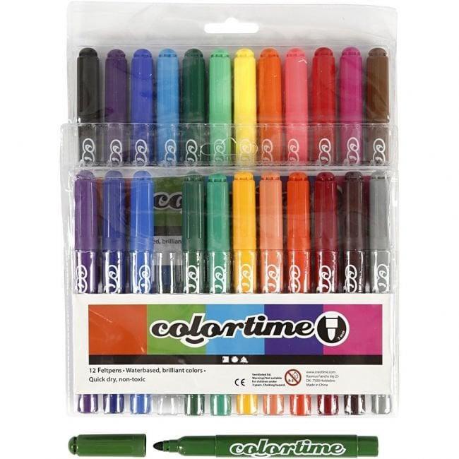 Colortime Marker tussit värilajitelma 24kpl tuotekuva1
