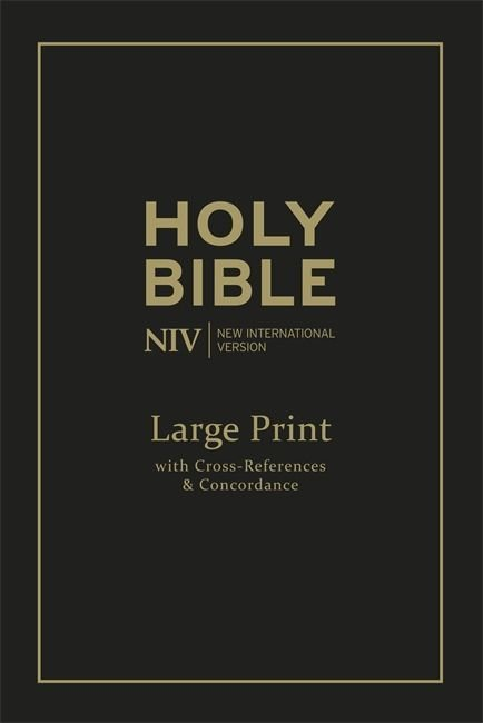 Englanti - NIV Large Print Single-Column Deluxe Reference Bible tuotekuva1