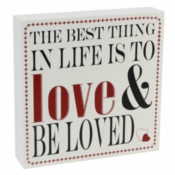 Love & Be loved -puulaatta 25x25 tuotekuva1