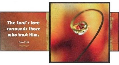 Taulu - The Lord's love - 19 x 37,5 tuotekuva1